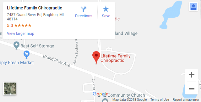 Brighton MI Chiropractic Map