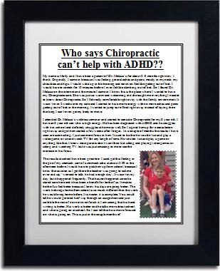 Chiropractic Brighton MI Office Testimonial ADHD