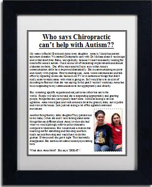 Chiropractic Brighton MI Office Testimonial Autism