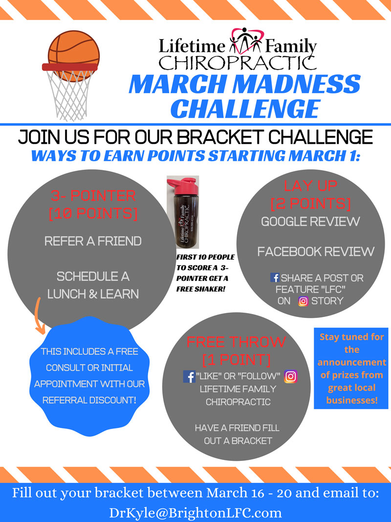 March Madness Challenge at Lifetime Family Chiropractic